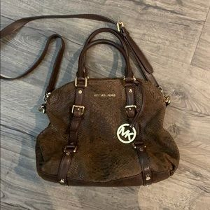 Micheal Kors Bedford Satchel — Alligator Print